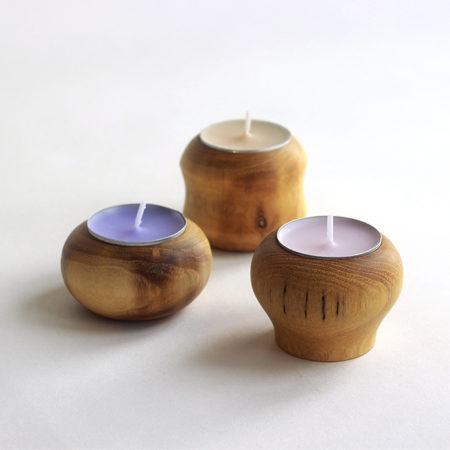 Dřevěné svícny z akátového dřeva-wooddesigner