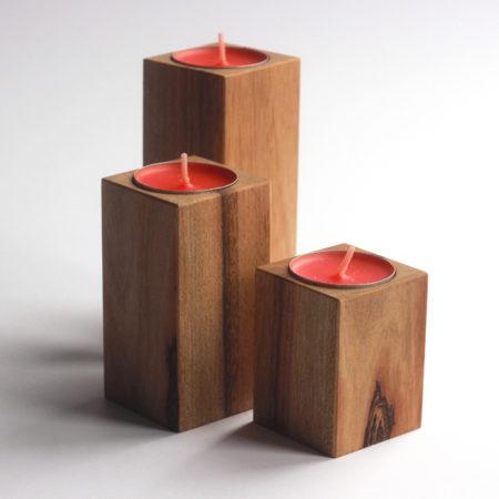 Dřevěné designové svícny-wooddesigner