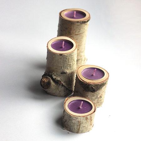 svícny s kůrou -woodesigner